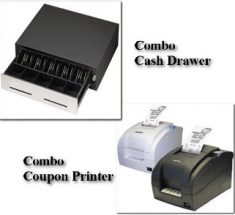 ID Scanner Cash Drawer Coupon Printer Combo