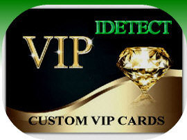 Custom VIP ID Scanner Cards